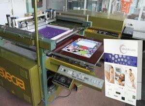 сито машина за нанасяне на селективен UV лак