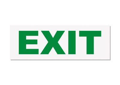 табелка стикер зелен exit