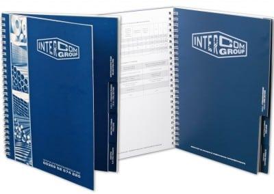 Каталог Интерком - техническа спецификация, с разделител и метална спирала