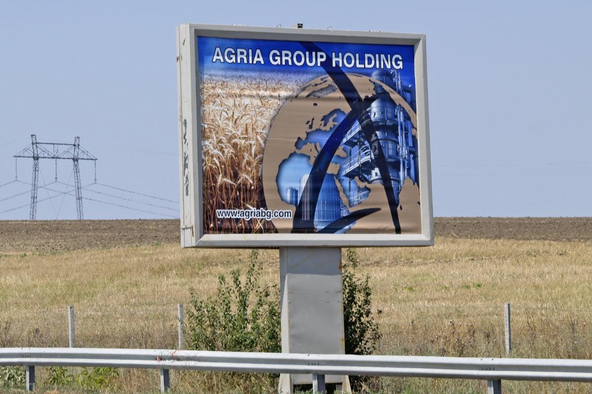 крайпътен билборд за Агрия Груп Холдинг