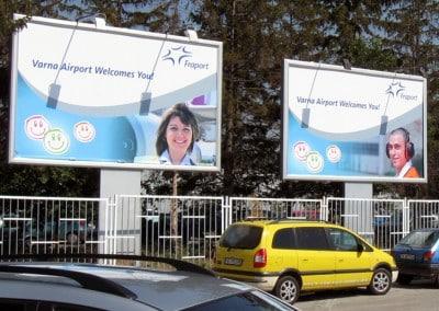 Билборд на летище Варна
