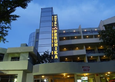Светещи обемни букви - хотел Перуника, Златни Пясъци
