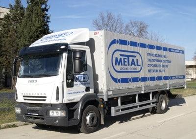 Брандиране на кабина и платнище на камион- Метал