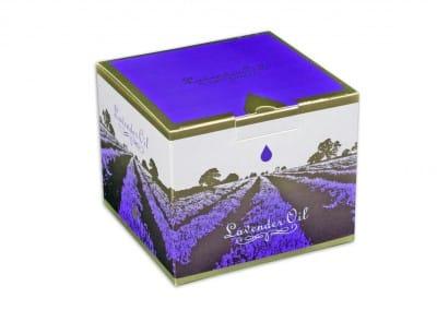 картонена кутия за етерични масла за козметика