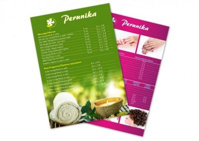 Листовка за хотел Перуника, Златни Пясъци