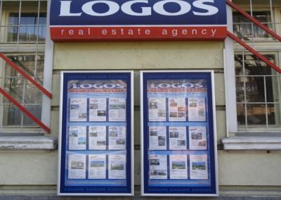 Информационно табло -витрина, агенция Логос