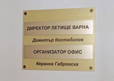 Табела за помещение - Директор
