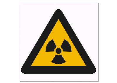 табелка радиоактивност