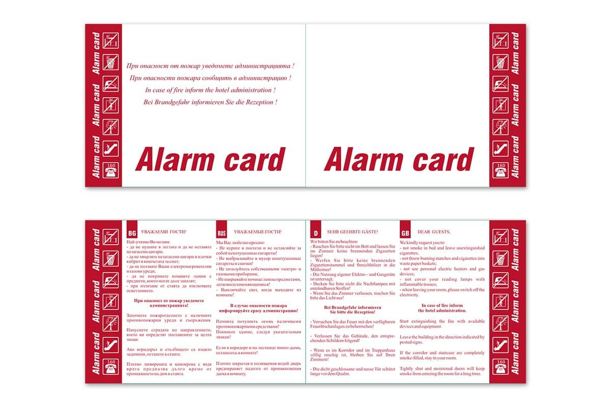 Vejen alarmcard