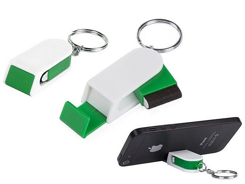 ключодържател - поставка за мобилен телефон и чистачка за дисплей