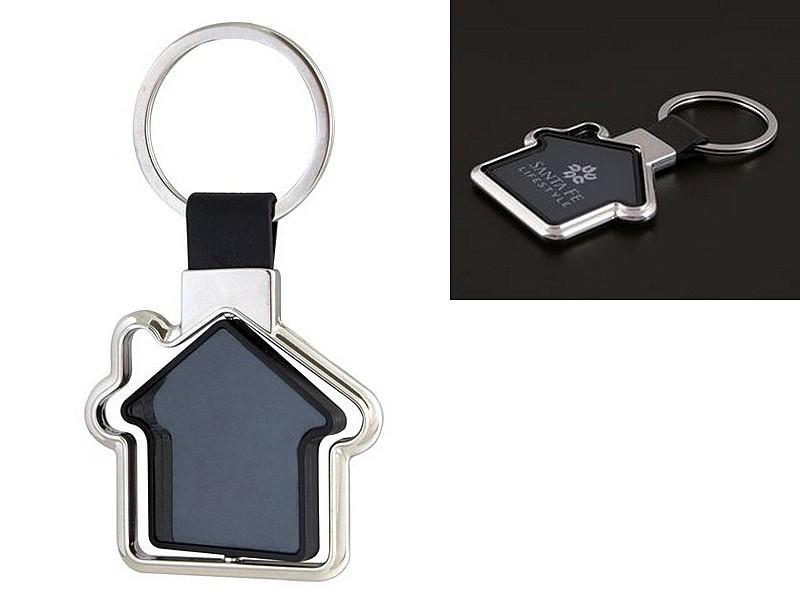 метален ключодържател с въртяща се къщичка
