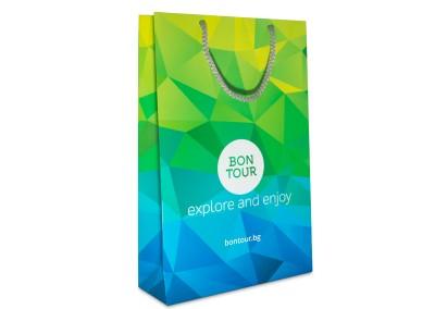 рекламна хартиена торбичка bon tour