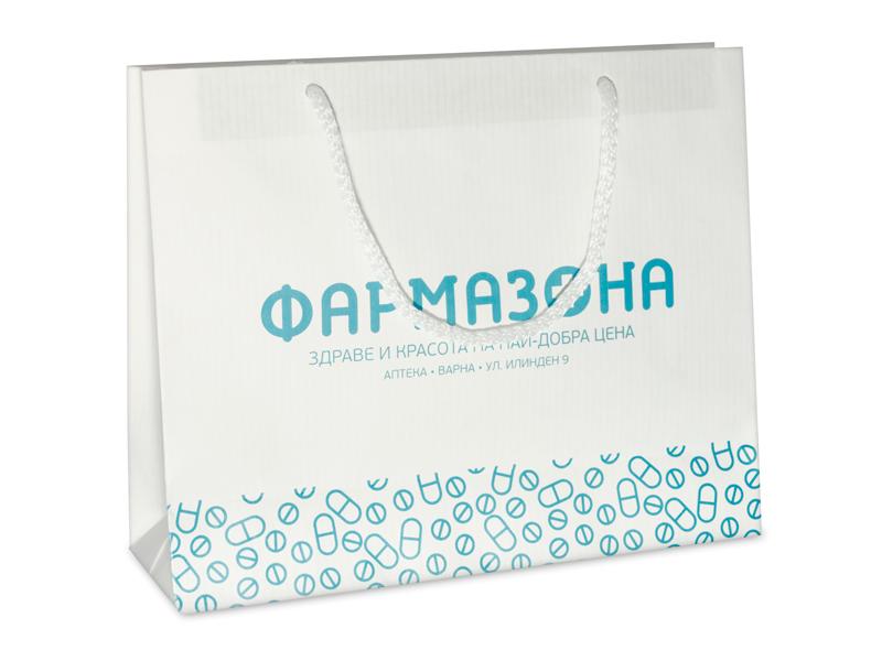 фирмени хартиени торбички с печат на фармазона