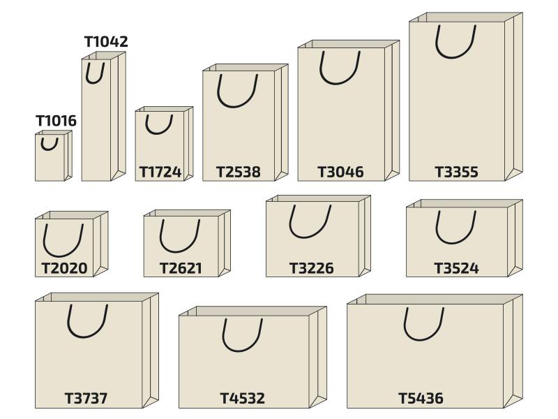 схеми на модели хартиени торби, различни размери