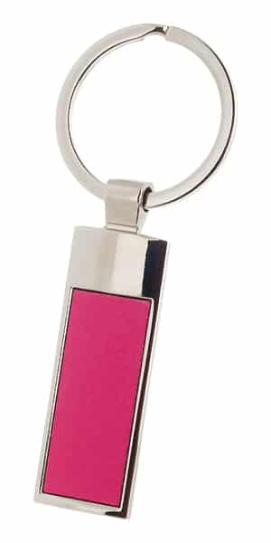 метален ключодържател, червен, с удължена основа