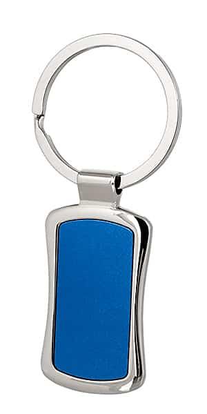 метален син ключодържател с халка