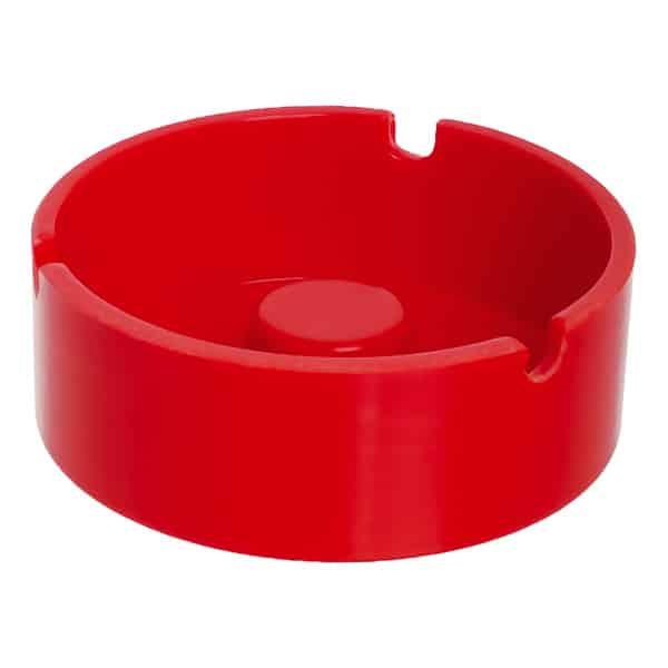 червен пластмасов пепелник кръг