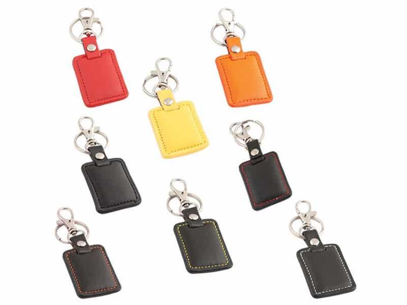кожени цветни ключодържатели за ситопечат