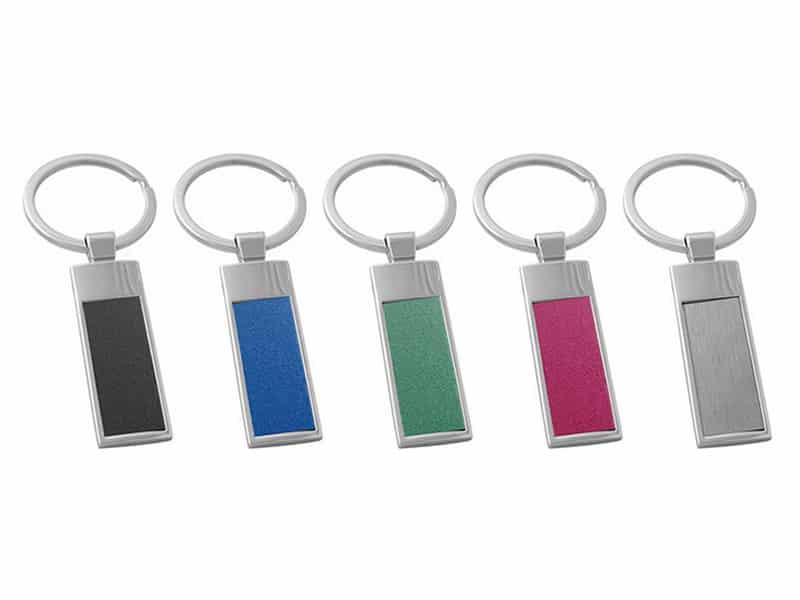метални цветни ключодържатели за лазерно или механично гравиране