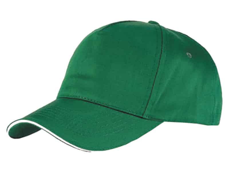 зелена бейзболна шапка, памучна