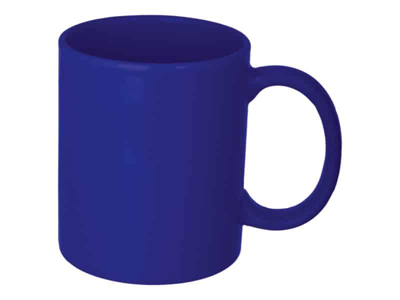 керамична рекламна чаша, синя