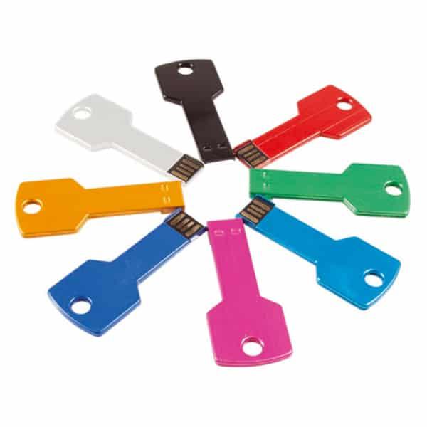 USB флаш памет M/MS-202, във форма на ключ, различни цветове