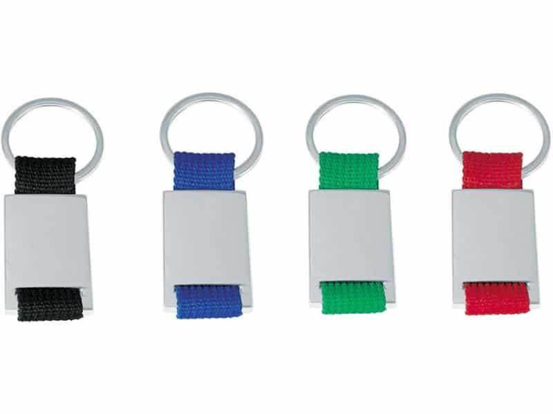метални ключодържатели с въжена цветна част