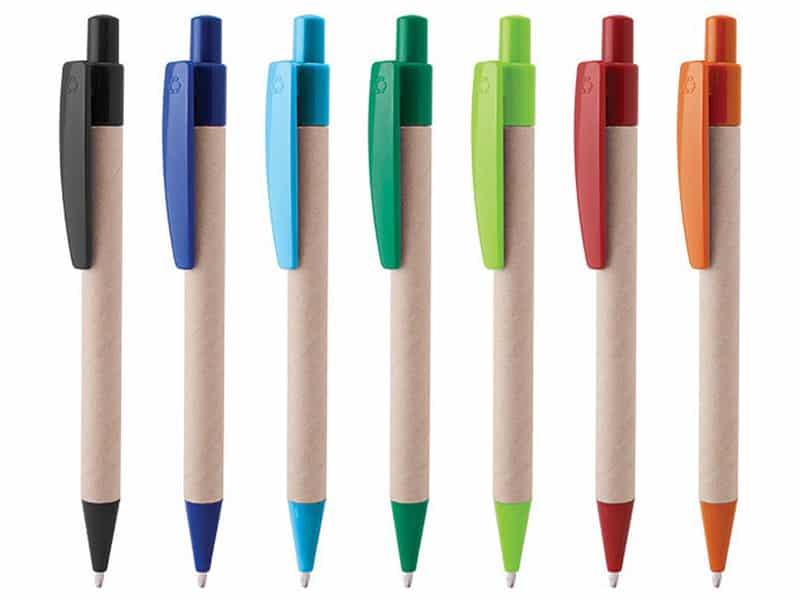 еко химикал цветен клипс от рециклирана хартия