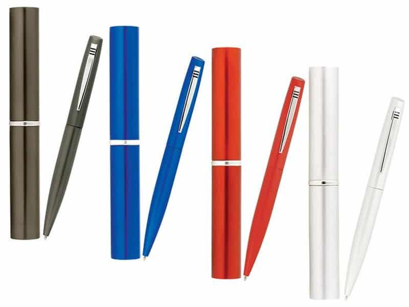 ефектни метални химикалки в тубуси
