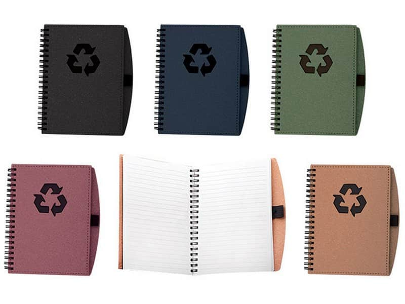 еко тефтер с бяла хартия за гравиране или ситопечат