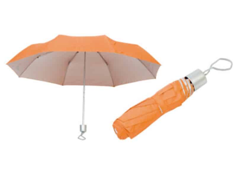 жълт дамски сгъваем чадър за реклама