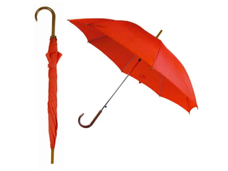 автоматичен чадър, червен