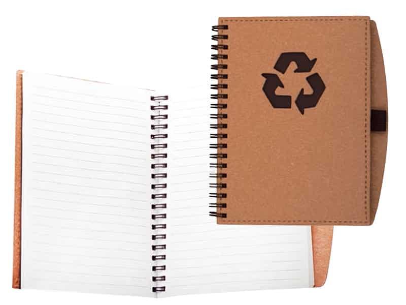 еко тефтер от рециклирана хартия с цветна корица