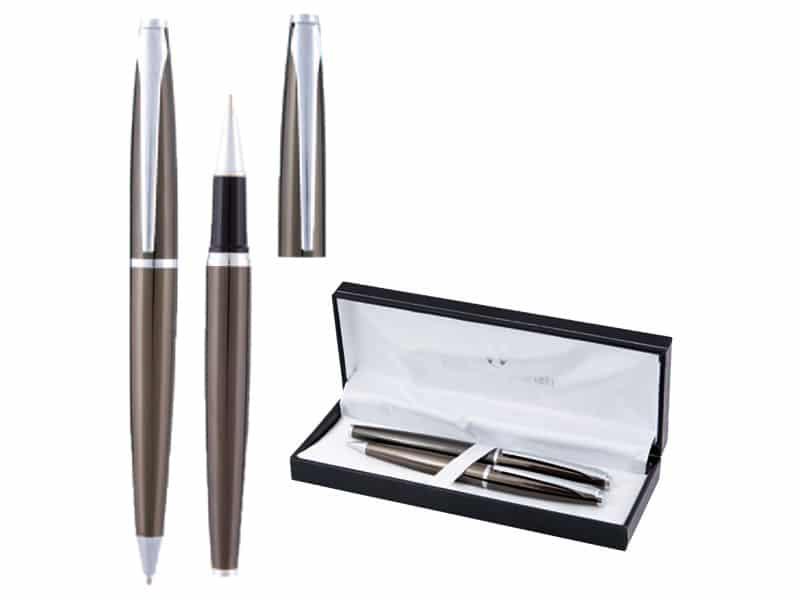 метална химикалка и ролер в кутия подходящи за гравиране