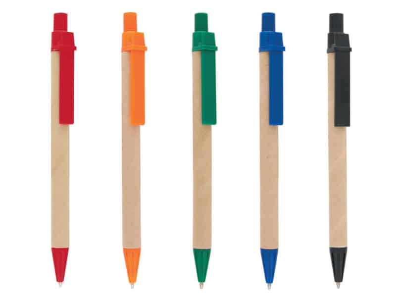 еко химикалки от рециклирана хартия
