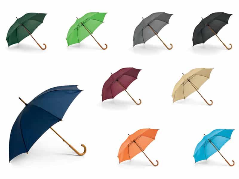 рекламни чадъри с дървени дръжки