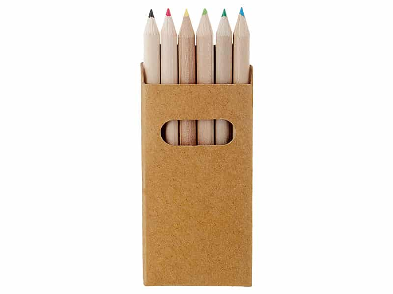 цветни мини моливи 6 броя в комплект