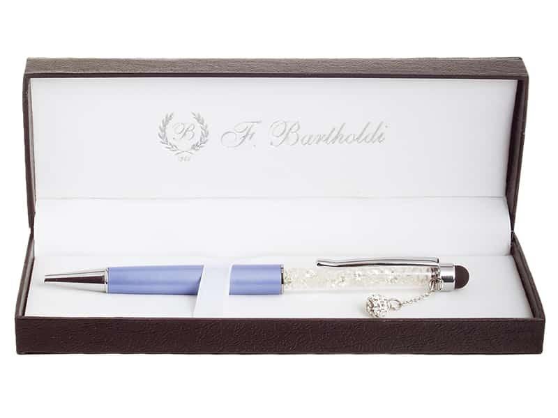 химикалка с цирконий, с връх за тъчскрийн, в кутия