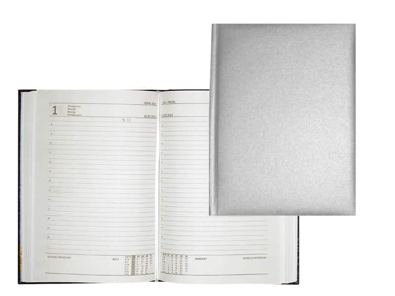 бележник сребро подходящ за надпис ситопечат