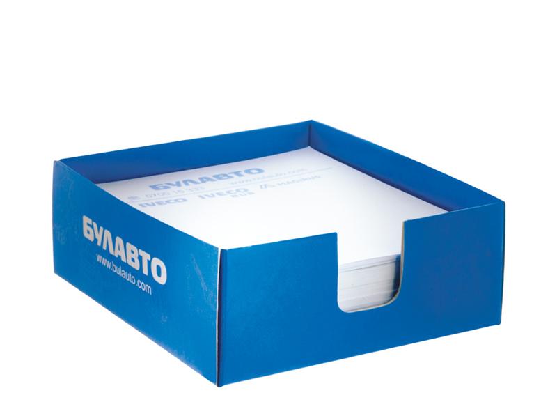 Синя картонена поставка за до 250 листчета
