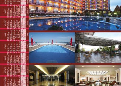 постер календар на хотел Лилия, златни пясъци за 2017 година
