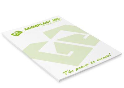 рекламни кубчета за бележки с растерно лого на akumplast