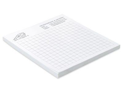 листи на квадрачета за бележки