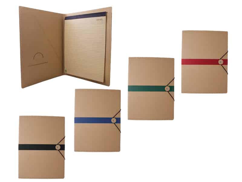 Еко папка с бележник, А4 с място за документи