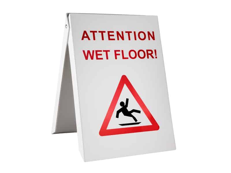 табела - мокър под