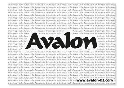 едноцветна рекламна подложка за маса, Avalon