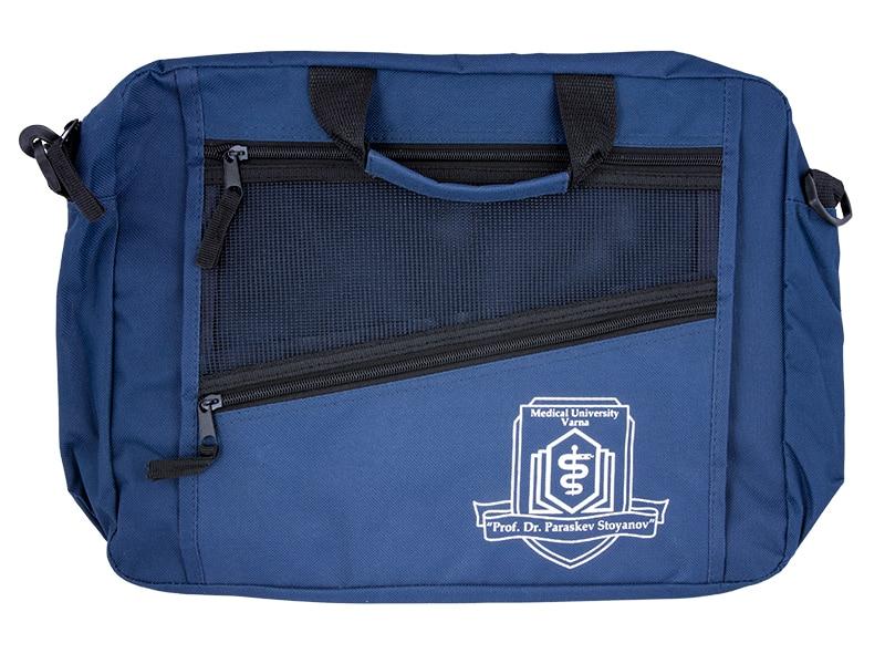 мултифункционална чанта с рекламен надпис на медицински университет варна