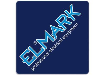 синя картонена подложка за чаша, брандирана с лого ELMARK