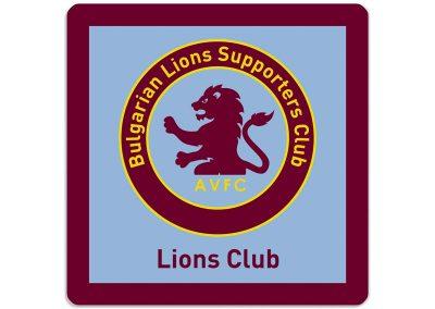 рекламна подложка за чаша за LIONS CLUB