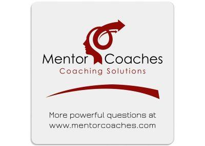 лице на рекламна подложка за чаша - Mentor Coaches